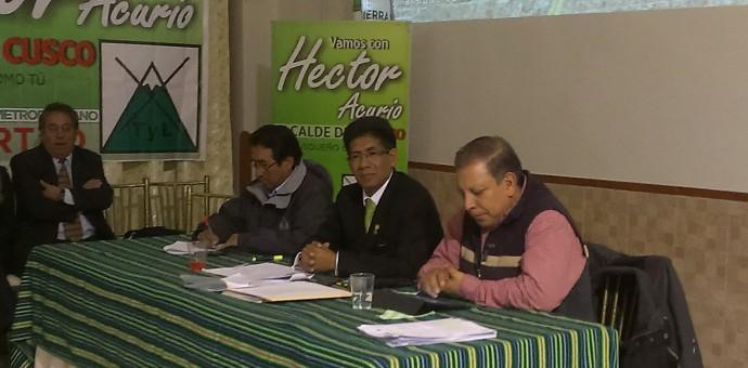Candidato Héctor Acurio sustenta propuesta de Cusco Metropolitano