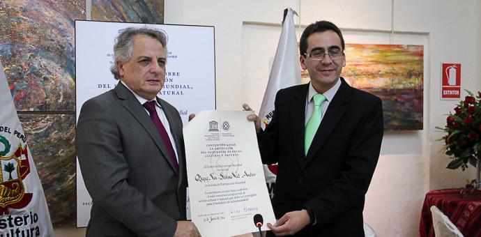 Embajador Manuel Rodriguez entregó certificación del Qhapaq Ñan como patrimonio mundial