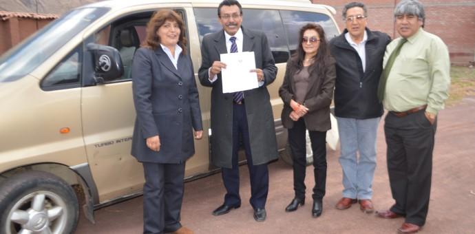 Camioneta donada por Aduanas fue entregada a Municipalidad de Wanchaq