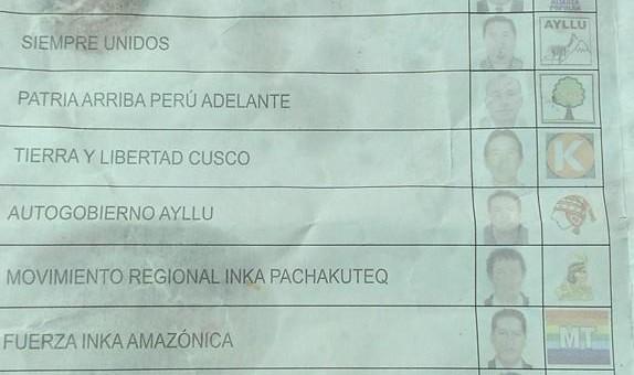 En cédula del APU, Incaroca es candidato de Ayllu y «Win» Licona de PAPA