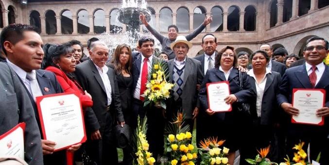 Autoridades electas de Cusco, Anta y Paruro recibieron credenciales del JNE