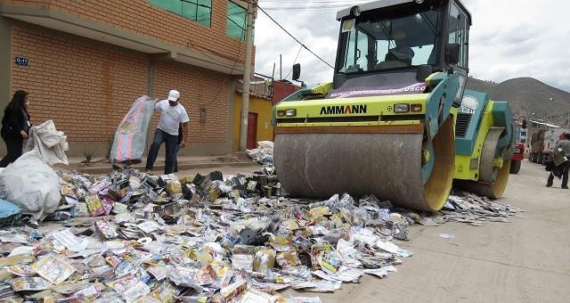 Indecopi destruyó más de 400 mil discos pirata incautados en la ciudad del Cusco