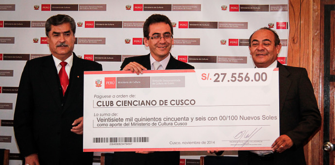 Trabajadores de Cultura donaron más de 27 mil soles al Club Cienciano
