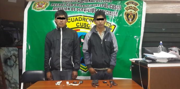 Capturan a dos menores integrantes de la banda Los Navajeros de San Jerónimo