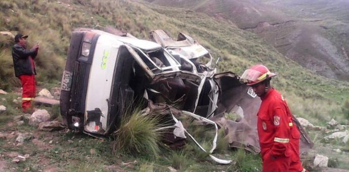Ocho personas fallecen en terrible accidente en la vía Sicuani-Santa Bárbara