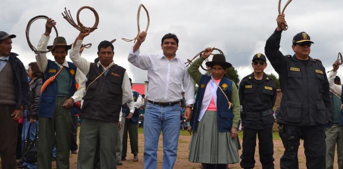 Ronderos de Occopata arrestan a 7 personas que buscaban tapados en zona arqueológica