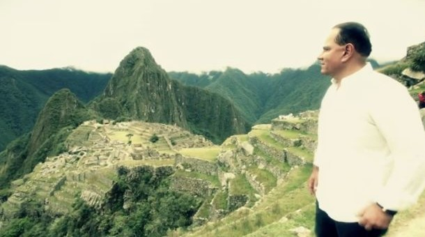 Mauricio Diez Canseco filmó con celular propaganda en Machu Picchu