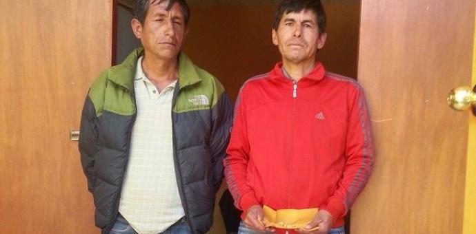 Capturan a dos sujetos cuando timaban a un anciano con falsas pepitas de oro