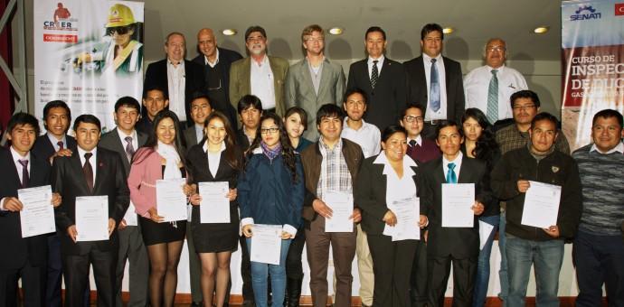 25 jóvenes cusqueños se graduaron como inspectores de ductos