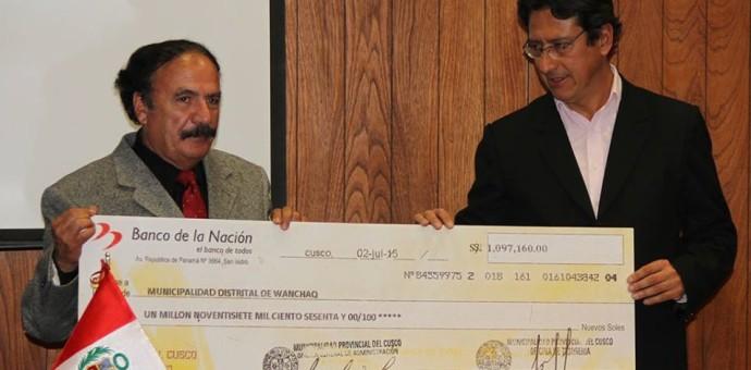 Municipalidad del Cusco transfirió más de un millón de soles a Wanchaq