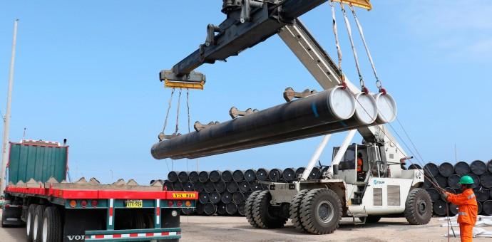 Gasoducto sur peruano alcanza un nuevo hito y llega a un 20% de avance físico