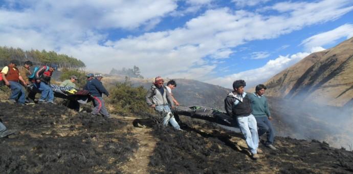 Madre e hija mueren calcinadas en un incendio forestal en Quispicanchi