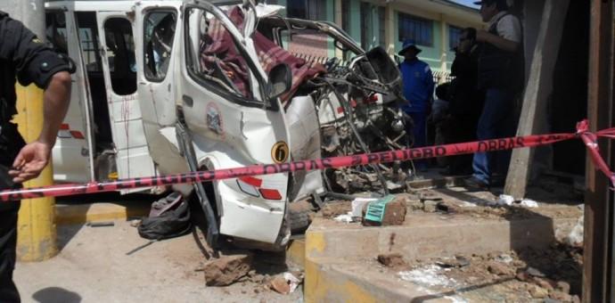 Cuatro estudiantes mueren en accidente de tránsito en Marangani
