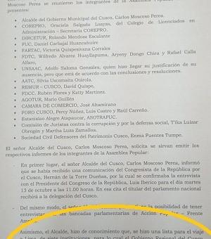 Sepa quien tuvo la culpa para el desaire de los dirigentes cusqueños que no pudieron viajar a Lima