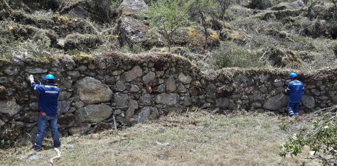 Evidencian andenes incas en el sector de Peñas del complejo de Ollantaytambo