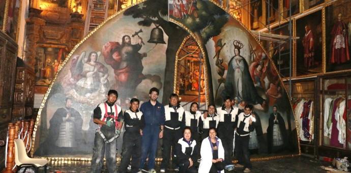 Arzobispado concluyó la restauración del lienzo «Nuestra Señora de Aránzazu»