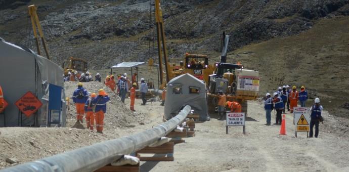 Empezó la soldadura de tuberías en el ramal Cusco-Anta del gasoducto del sur