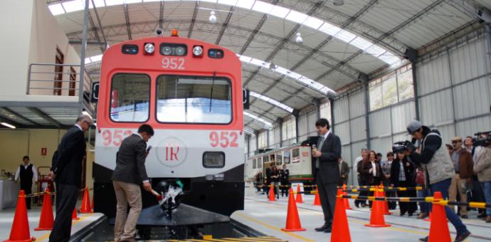 Inca Rail inauguró moderno patio taller de autovagones en Urubamba