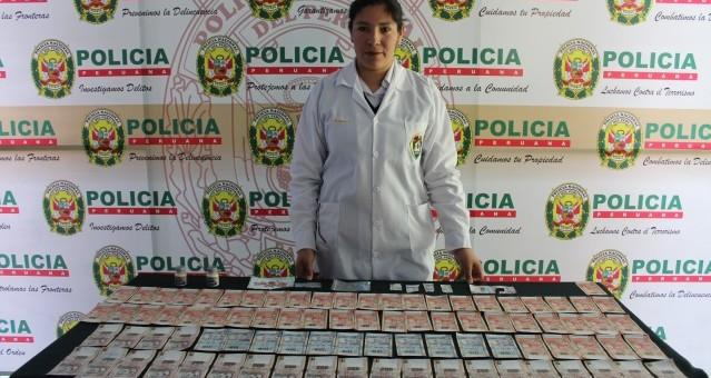 Incautan 8 400 nuevos soles en billetes falsos e intervienen a dos personas