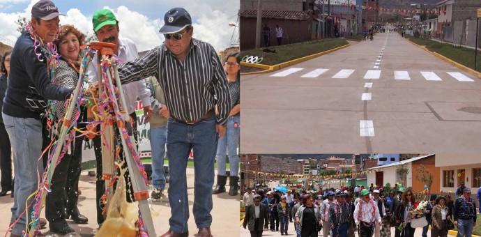 Municipalidad de Wanchaq entregó obra asfaltada en Av. República de Bolivia