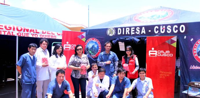 Caja Cusco participó en campaña voluntaria de donación de sangre