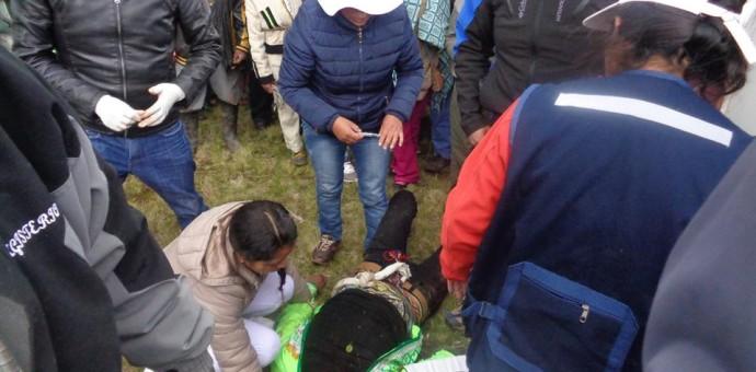 Un muerto y una decena de heridos deja la batalla ritual de El Chiaraje de Canas