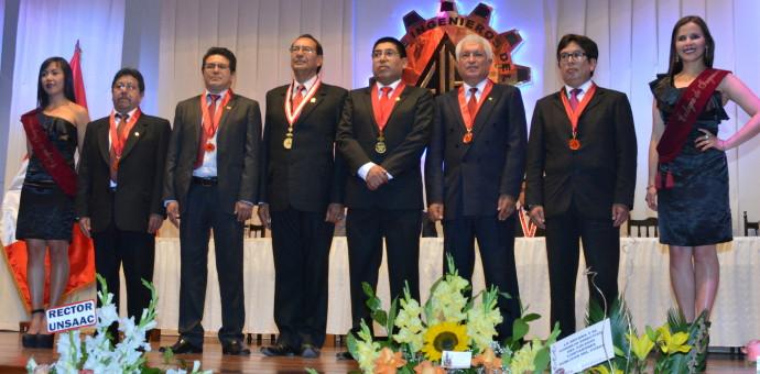 Juramentó nueva directiva del Colegio de Ingenieros presidida por Enrique Saloma