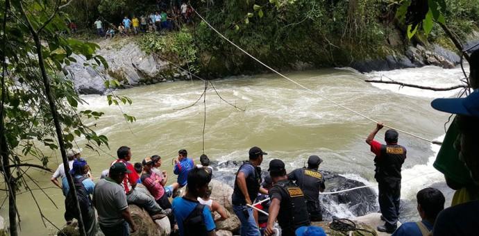 Continua búsqueda de 12 personas desaparecidas en río Koshireni en La Convención
