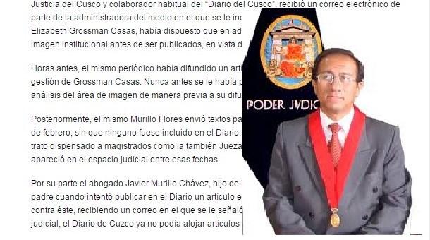 Diario del Cusco se presta a censurar artículos de opinión de juez superior