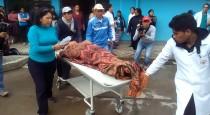 Choque frontal de dos empresas de transporte público deja 6 personas heridas