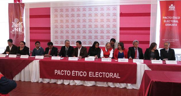 Candidatos al Congreso en Cusco firmarán Pacto Ético, para debatir propuestas y no agresiones