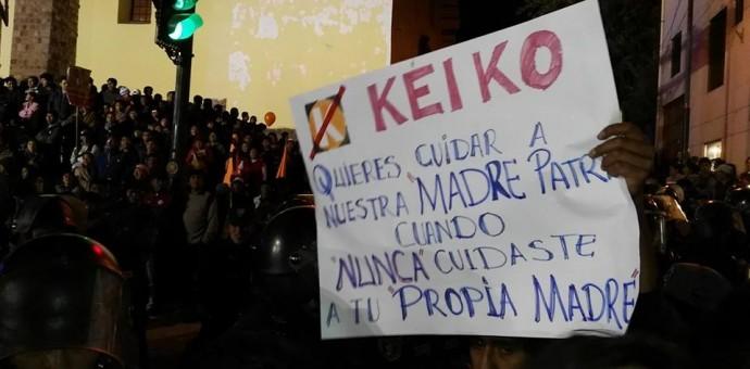 Contunde rechazo a Keiko Fujimori en Cusco