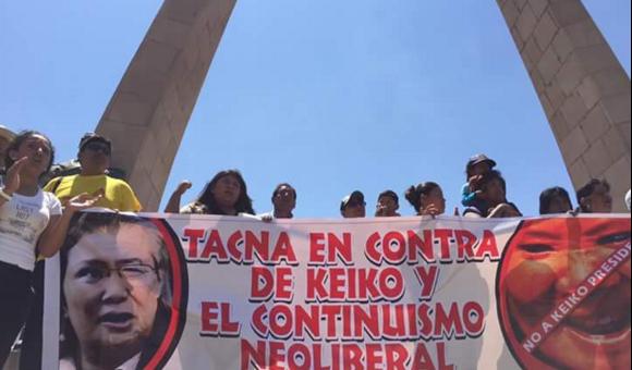 Una vez más botaron a la candidata Keiko Fujimori, ahora fue de Tacna