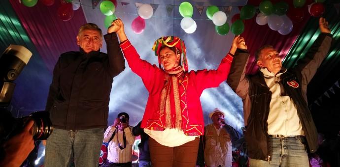 78.33% del histórico distrito de Túpac Amaru votó por Verónika Mendoza