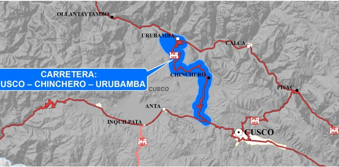 Otorgan buena pro para estudio de factibilidad de la vía Cusco-Chinchero-Urubamba