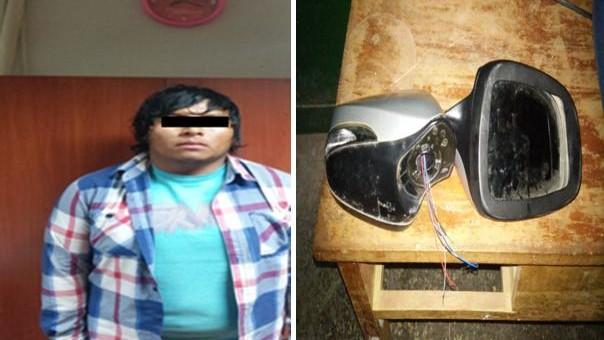 Capturan a sujeto con dos espejos retrovisores robados a un vehículo Hyundai