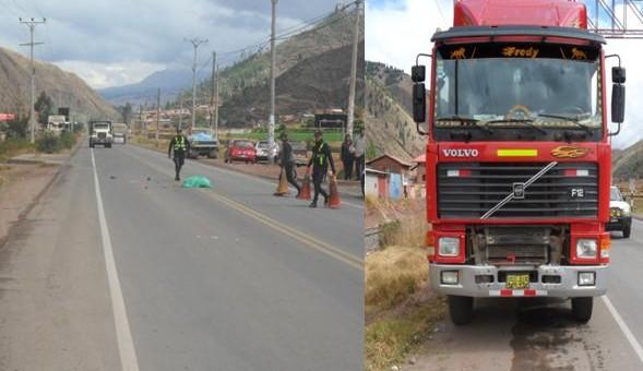 Escolar de institución educativa de Saylla pierde la vida al ser arrollado por un camión Volvo