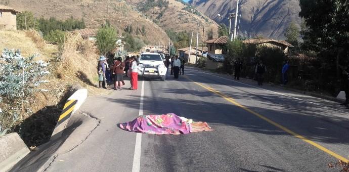 Dos personas fallecidas en accidentes de tránsito en Urcos y Oropesa
