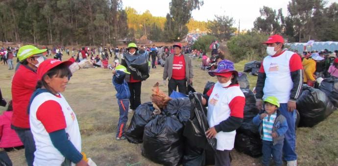 Recogen más de 50 toneladas de basura de Sacsayhuaman tras el Inti Raymi