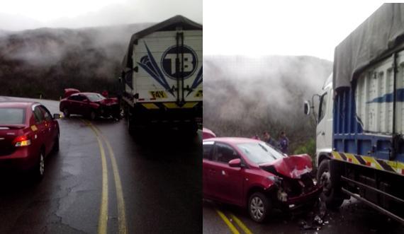 Colisión de vehículos en Huayopata deja el lamentable saldo de una persona fallecida