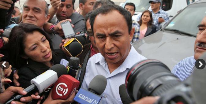 Gregorio Santos salió de la cárcel tras 25 meses de prisión preventiva