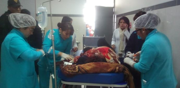 Mujer con TEC grave y brutalmente agredida fue internada en el Hospital Regional