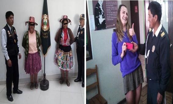 Dos hermanas vestidas con trajes cusqueños se dedicaban a robar a turistas