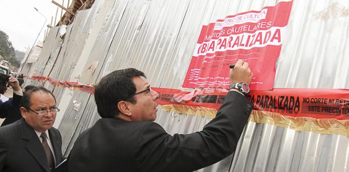 Dirección de Cultura paralizó obra civil de construcción del hotel de la calle Saphi