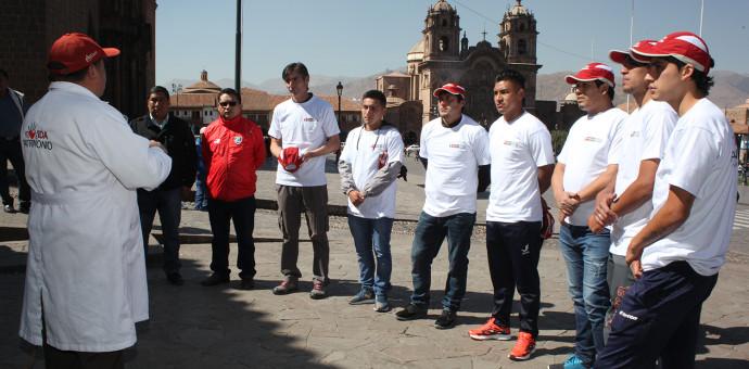 Futbolistas de Cienciano y Deportivo Garcilaso se sumaron a la campaña «Dale Vida a tu Patrimonio»