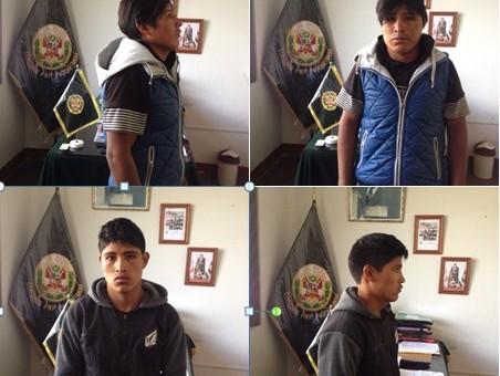 """Integrantes de la banda """"Rapidos y furiosos"""" fueron capturados en Paucartambo"""
