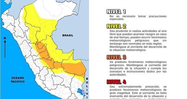 Noveno friaje del año presentará lluvias y descenso de temperaturas en la selva
