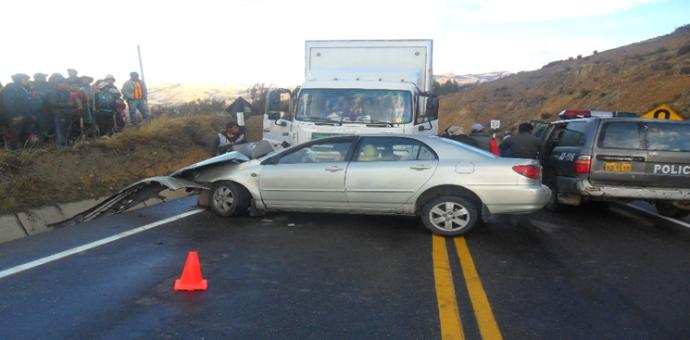 Cinco personas resultan heridas en un accidente de tránsito ocurrido en la Interoceánica