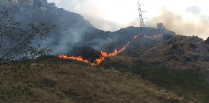 Nuevo incendio forestal a la altura del kilómetro 96 de la vía ferroviaria a Machu Picchu