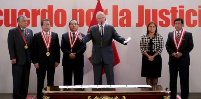 Lima: Autoridades suscriben Acuerdo Nacional por la Justicia